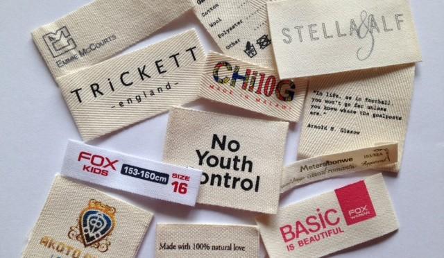 Cotton Labels for Garment
