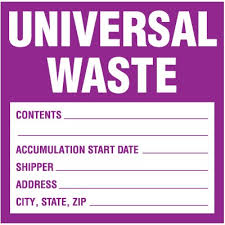 For Universal Waste