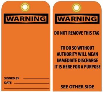 Warning-Tags