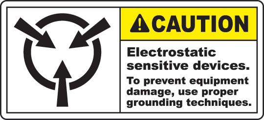 Electrostatic Sign Warning Labels