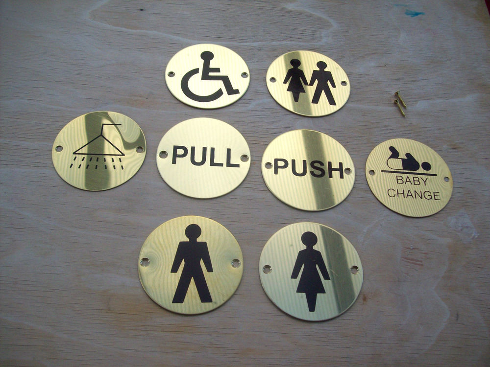 Toilet and Restroom Signs Plate labels