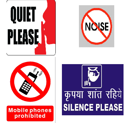 Keep Silence Sign Label