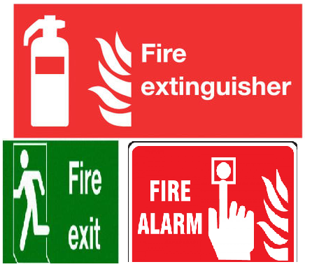 Fire Safety Sign Labels