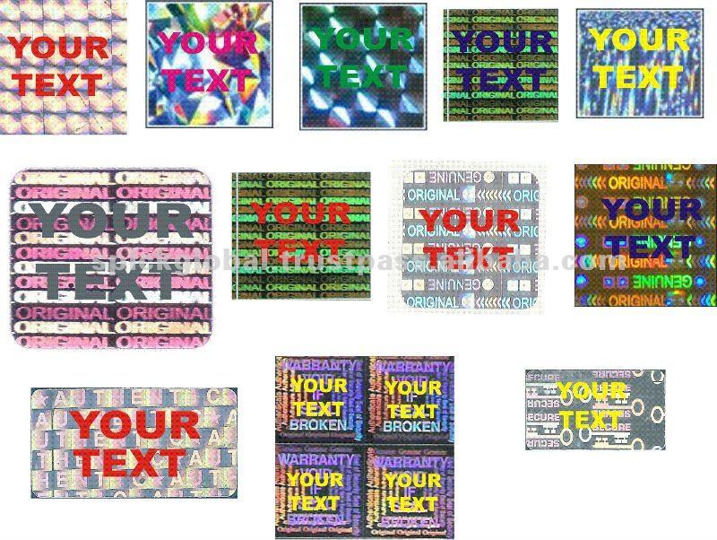 Genuine Authentic Hologram Labels