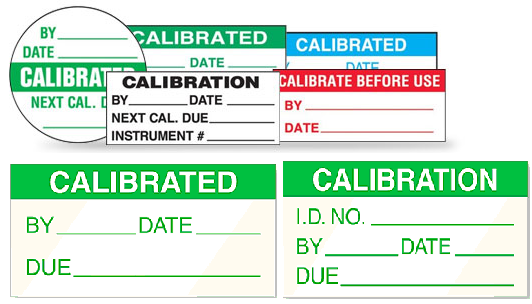 Calibration Labels and Stickers