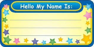 kids name stickers
