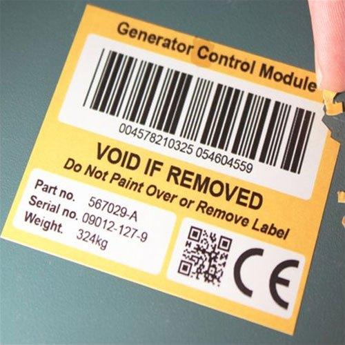 Destructive label