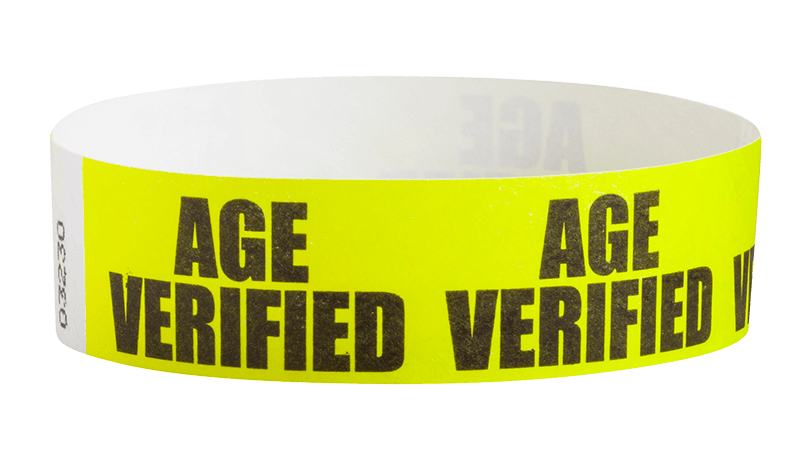 Sequential Barcoded Tyvek Wristbands