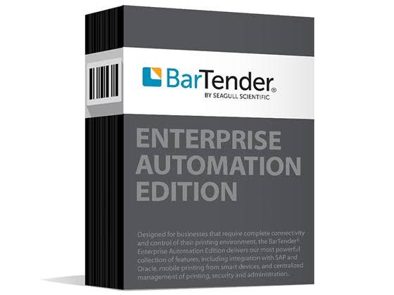Seagull Scientific BarTender Enterprise Automation Edition Software