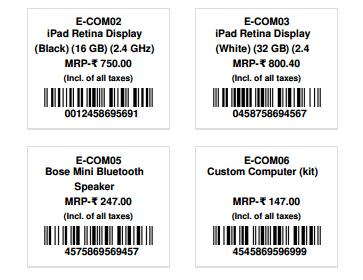 Toshiba Product Label