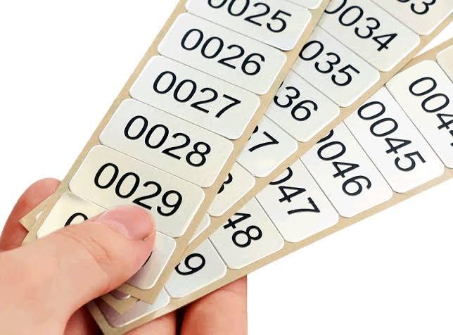 Toshiba Numbering Label