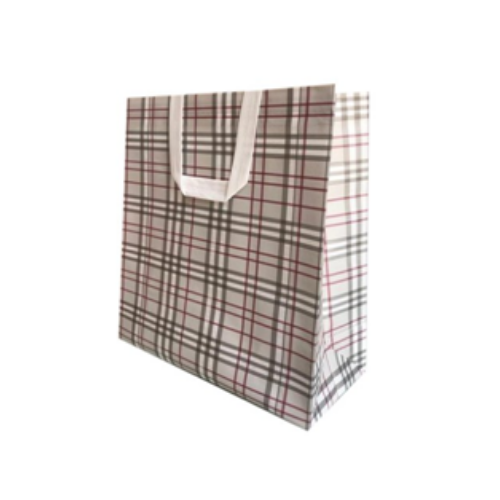 Checked Non Woven Laminated Carry Bags