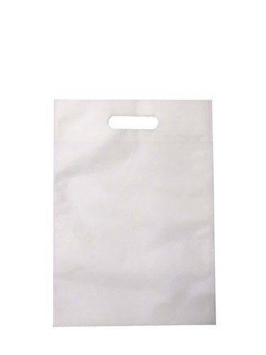 White Rectangular PP Woven D Cut Bags