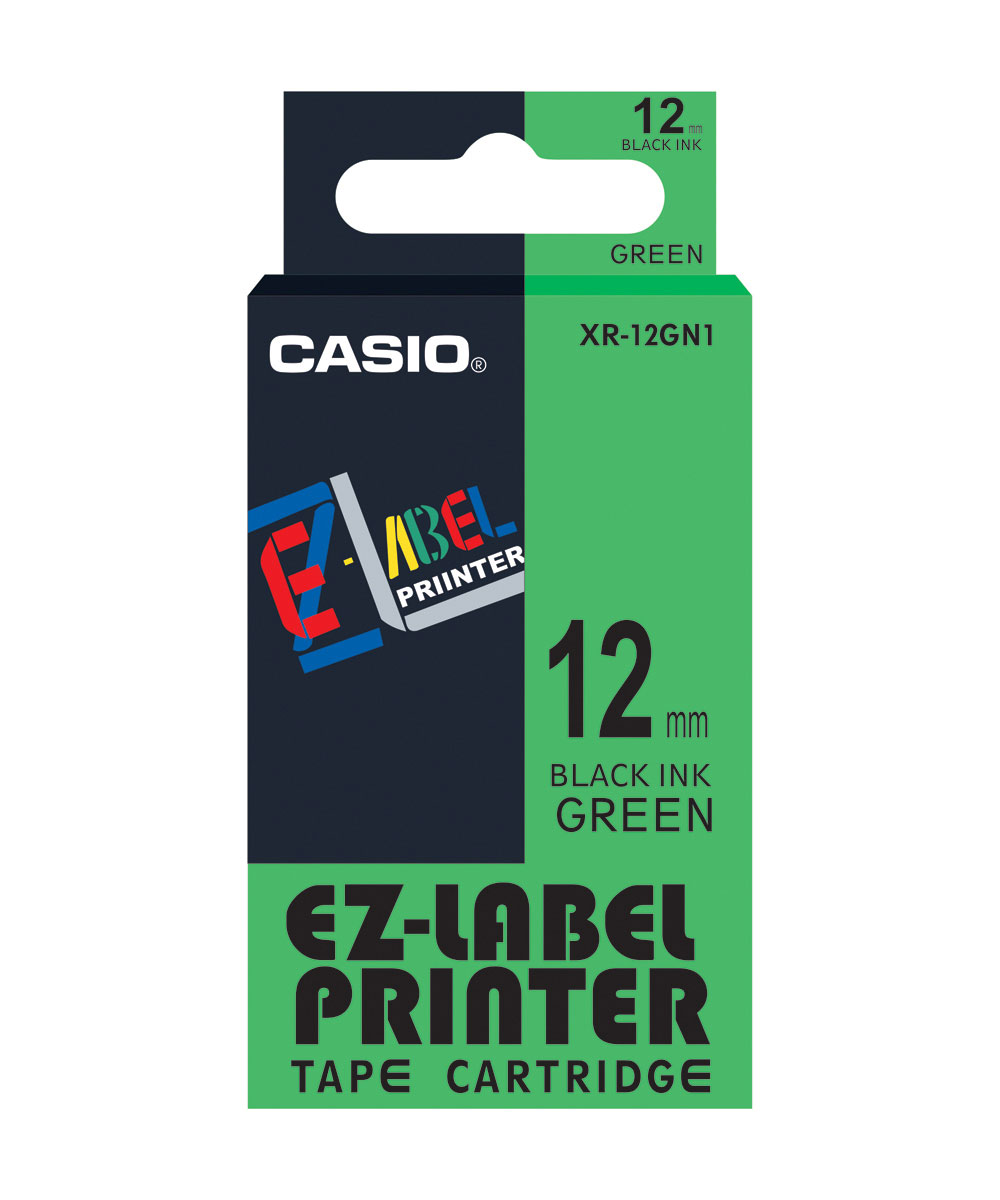 Casio XR 12GN1 Printer Tape