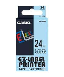 Casio XR 24X1 W Label Printer Tape