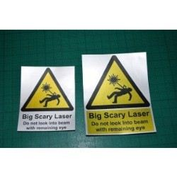 Big Scary Laser Labels & Sticker