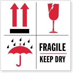Keep Dry Shipping Stickers & Labels