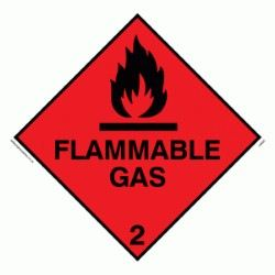 Flammable Gas Stickers